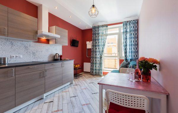 Вишнёвые апартаменты, 45m²